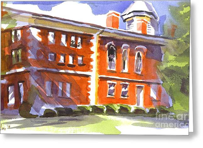 Summery Afternoon Sunshine At The Courthouse Greeting Card by Kip DeVore