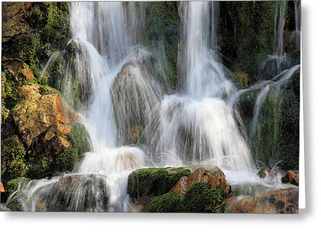 Summit Creek Waterfalls Greeting Card