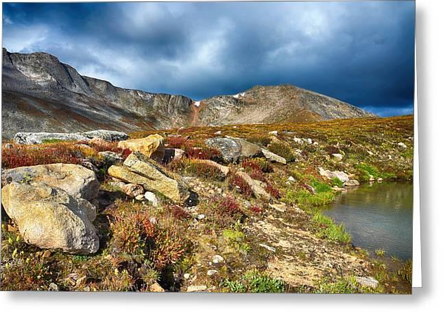 Summit Lake Tundra Greeting Card