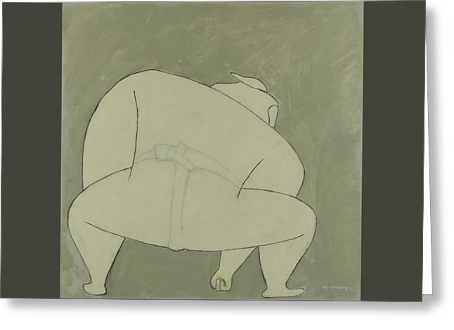 Sumo Wrestler Greeting Card
