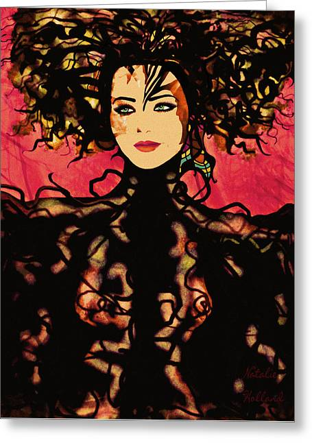 Sumptuous Elegance Greeting Card by Natalie Holland