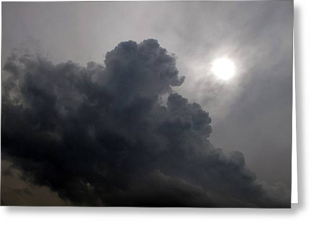 Sun Above The Clouds  Greeting Card