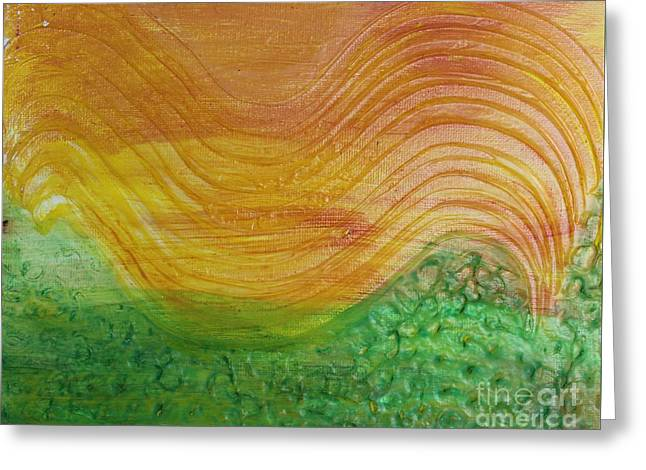 Sun And Grass In Harmony Greeting Card