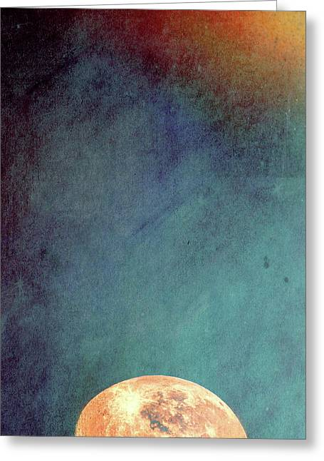 Sun And Moon Greeting Card by Bob Orsillo
