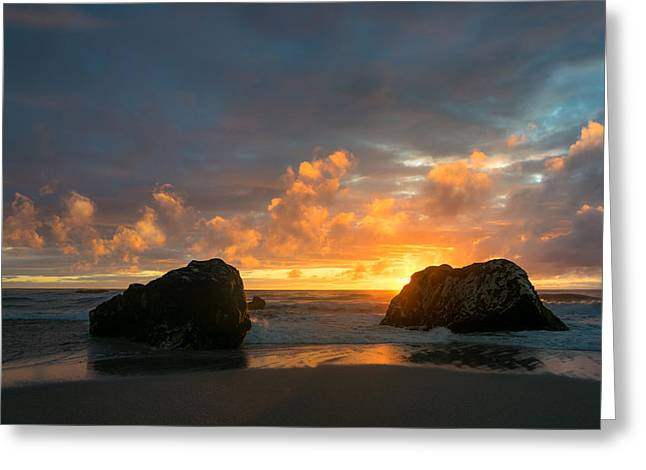 Sun And Rocks Greeting Card by Martin Capek