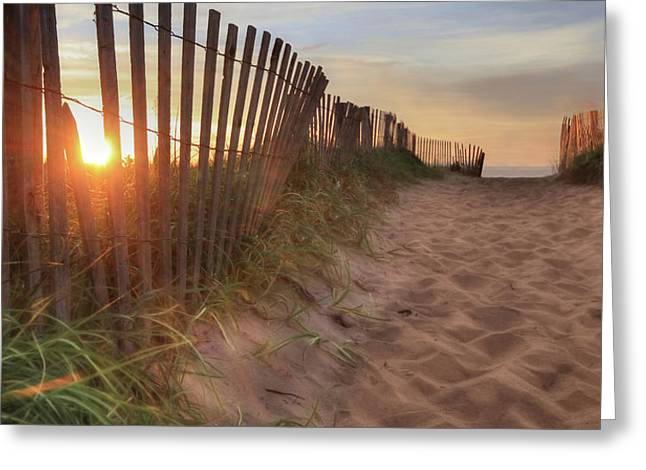 Sun And Sand Greeting Card by Lori Deiter