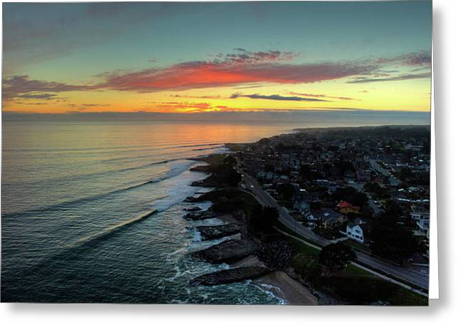 Sun And Sets Greeting Card by David Levy