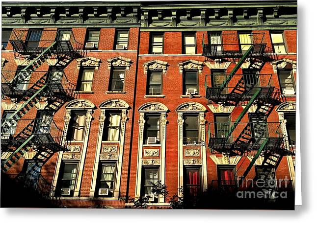 Sun And Shadow - The Rhythm Of New York Greeting Card