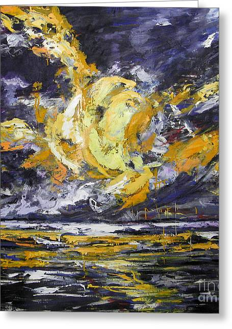 Greeting Card featuring the painting Sun And Sky by Debora Cardaci