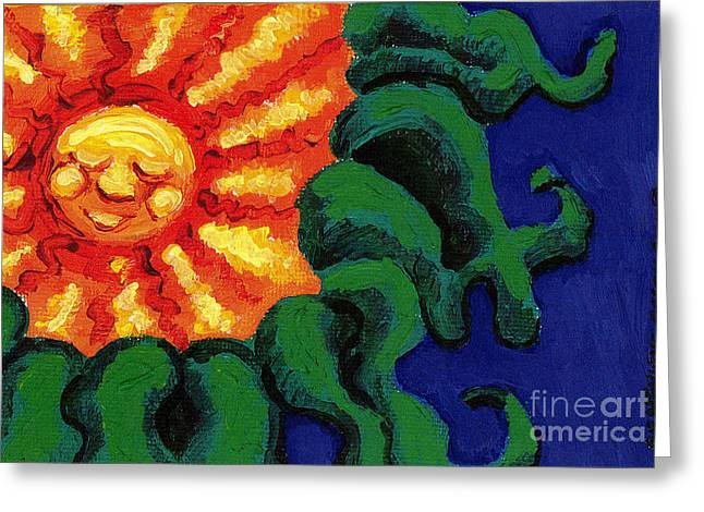 Sun Baby Greeting Card by Genevieve Esson