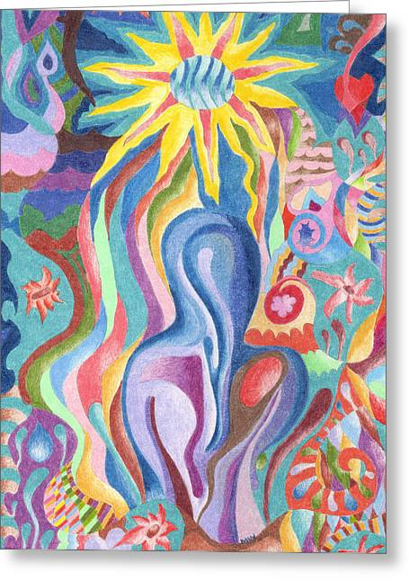 Sun Bath Greeting Card by Molly Williams