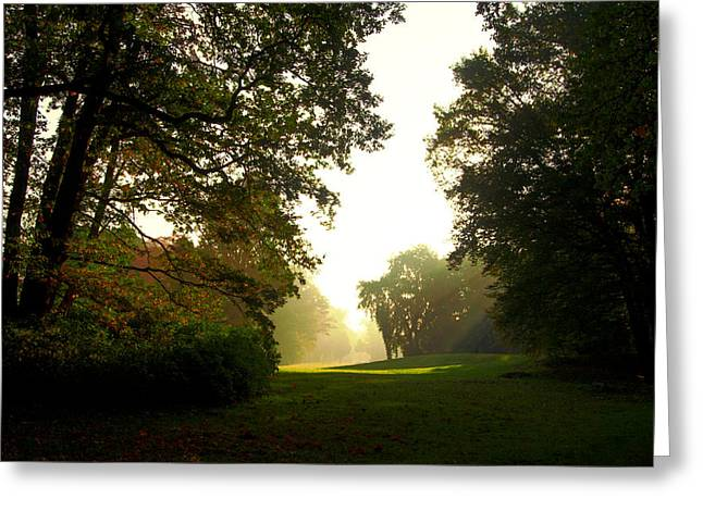 Sun Beams In The Distance Greeting Card