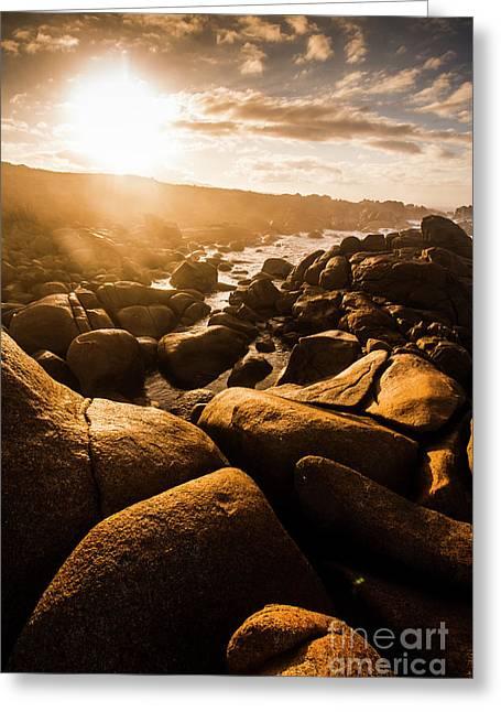 Sun Bleached Australia Beach Greeting Card