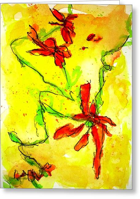 Greeting Card featuring the painting Sun Catchers 1 by Tracy Bonin