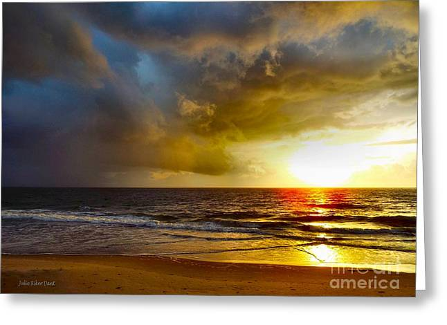 Sun Chasing The Storm Away Greeting Card by Julie Dant