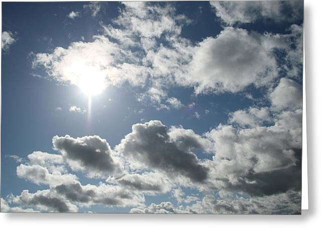 Sun Clouds Greeting Card by Joshua Sunday