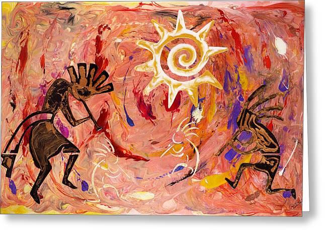 Sun Dance Greeting Card by Paul Tokarski