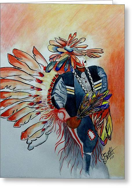 Sun Dancer Greeting Card by Jimmy Smith