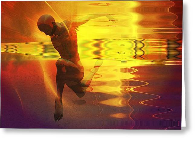 Greeting Card featuring the digital art Sun Dancer by Shadowlea Is