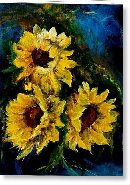 Sun Flowers 1 Greeting Card