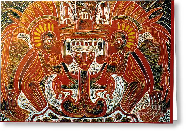 Sun God    1 Of 6 Greeting Card by Pamela Iris Harden