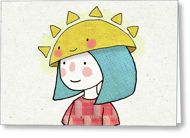 Sun Hat Greeting Card by Carolina Parada