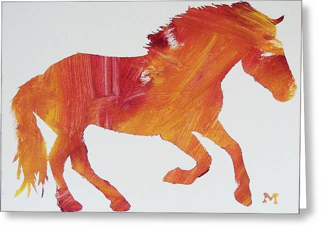 Sun Horse Greeting Card