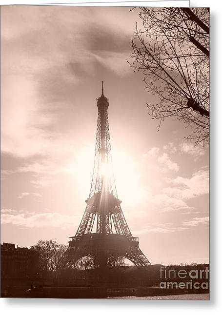 Sun In Paris Greeting Card