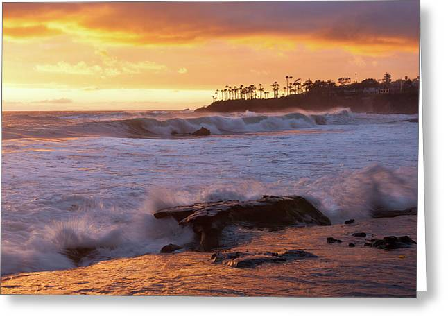 Greeting Card featuring the photograph Sun Kissed Coast by Cliff Wassmann