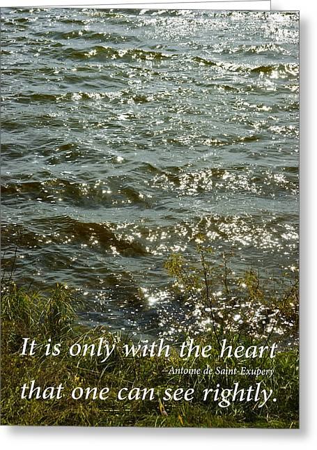 Sun Light Reflecting On Water With Inspirational Text Greeting Card by Donald  Erickson