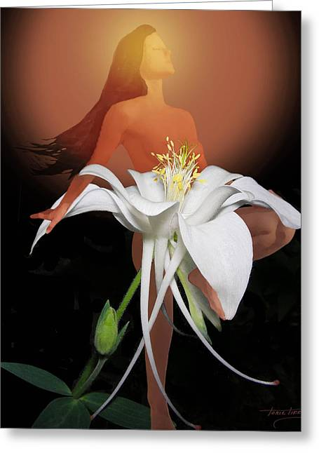 Sun Maiden Greeting Card