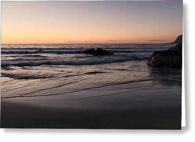Sun Meets Horizon Greeting Card by Tor-Ivar Naess