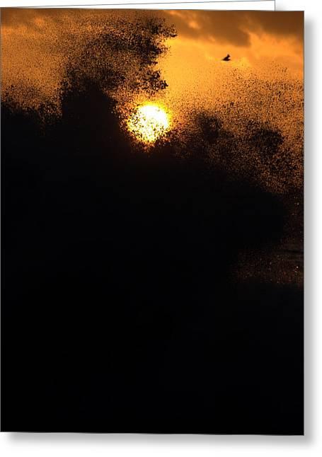 Sun Monster Greeting Card by Brad Scott