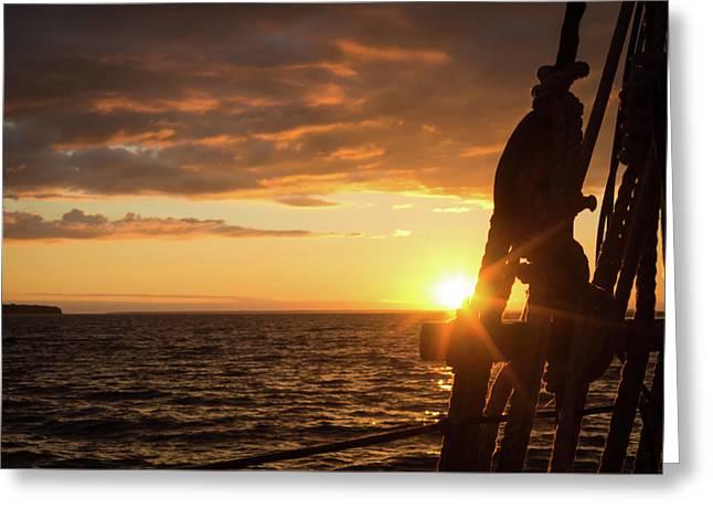 Sun On The Horizon Greeting Card