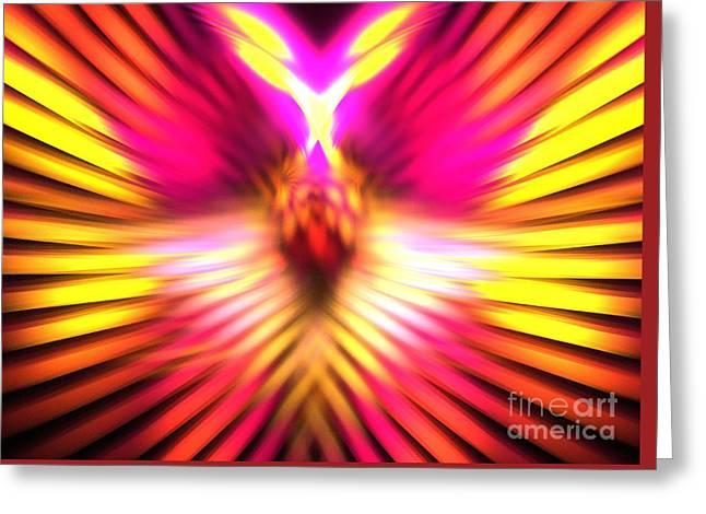 Sun Phoenix Greeting Card by Kim Sy Ok