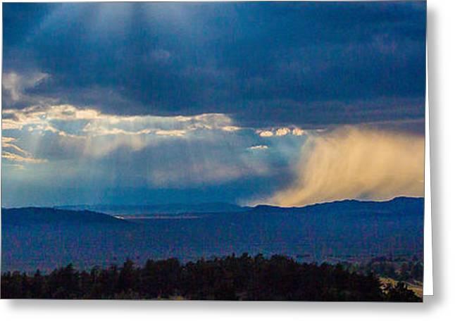 Sun Rays And Rain Greeting Card