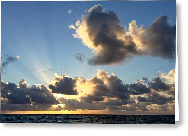 Sun Rays And The Cloud Greeting Card