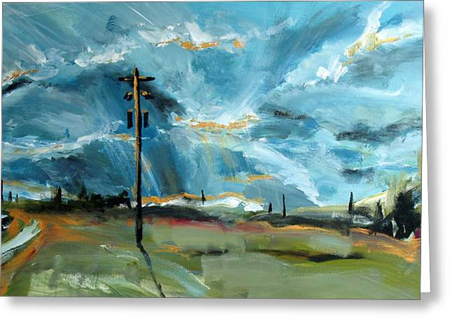 Greeting Card featuring the painting Sun Rays by John Jr Gholson