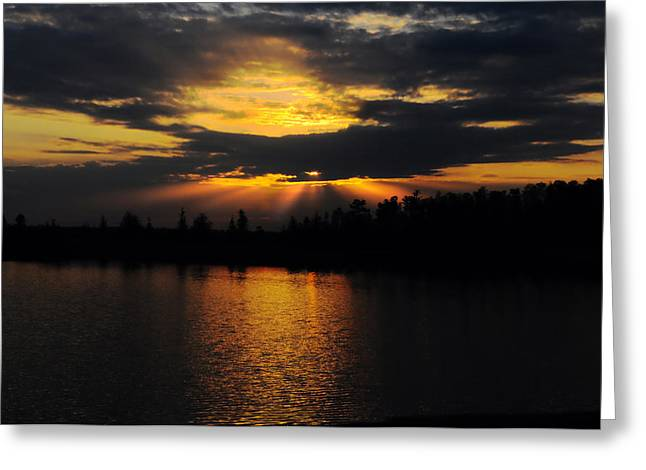 Sun Rays Over Solivita Greeting Card by Lyle  Huisken