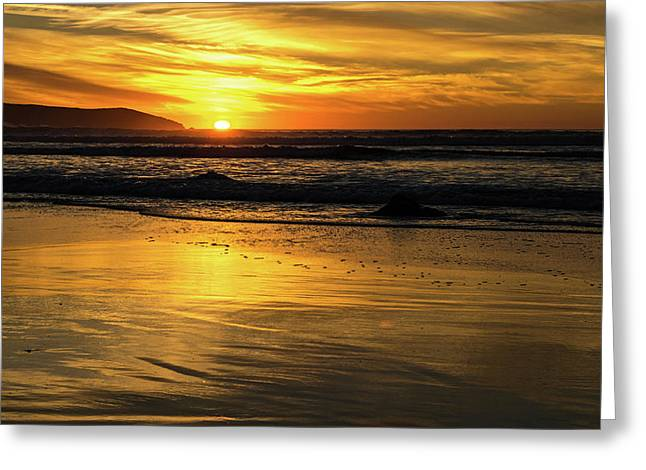 Sun Reflection Greeting Card by Sierra Vance