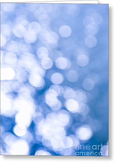 Abstractions Photographs Greeting Cards - Sun reflections on water Greeting Card by Elena Elisseeva