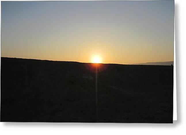 Sun Rise, Wadi Degla, Egypt Greeting Card by Mohamed Sief