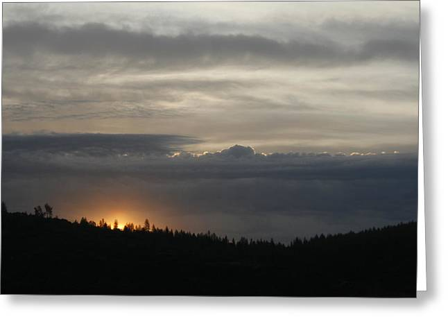 Sun Rises On Ridge Greeting Card