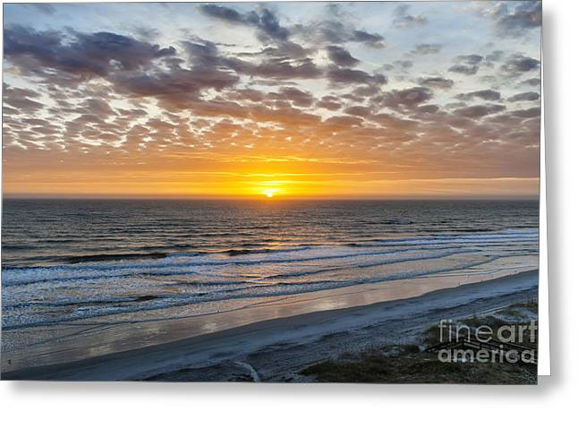 Sun Rising Over Atlantic Greeting Card by Elena Elisseeva