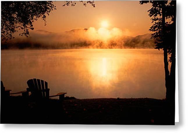 Sun Rising Over Lake Placid, New York Greeting Card
