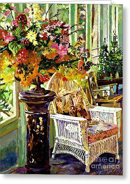 Sun Room Greeting Card by David Lloyd Glover