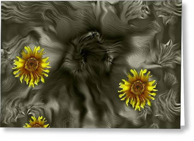 Sun Roses In The Deep Dark Forest Greeting Card by Pepita Selles