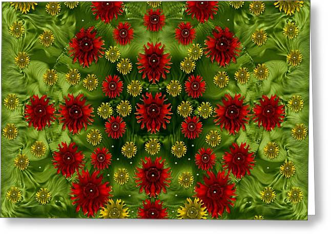 Sun Roses In The Deep Dark Forest With Fantasy And Flair Greeting Card by Pepita Selles
