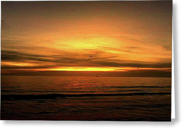 Sun Set On The Gulf Greeting Card