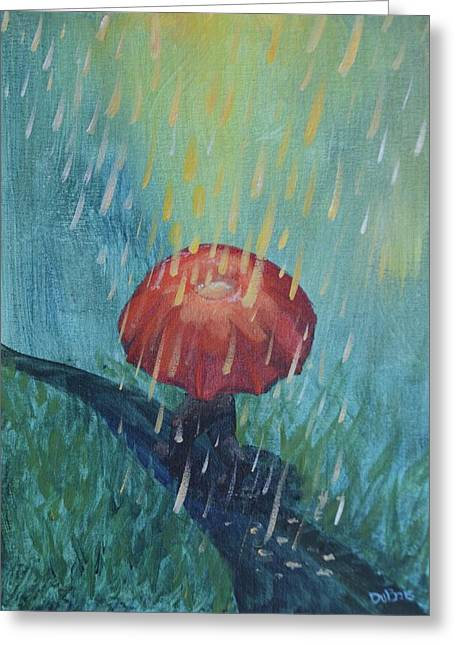 Sun Showers Greeting Card